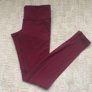 Women's Lululemon Burgundy Leggings Sz 6
